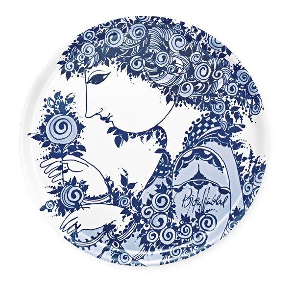 Bjørn Wiinblad Rosamunde Tarjotin Pyöreä 46 cm Sininen