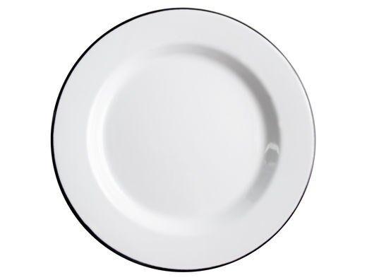 Muurla Basic Posliinilautanen 24 cm Valkoinen
