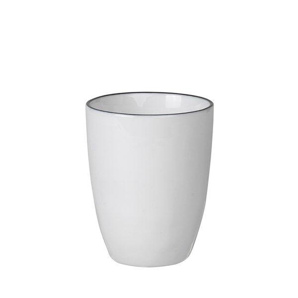 Broste Espressomugg Salt 10 cl Vit med Svart Kant