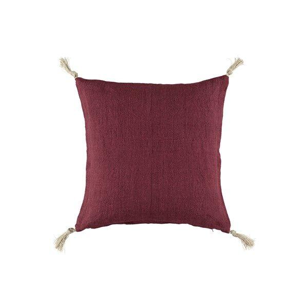 Gripsholm tyynyliina viininpunainen 50x50