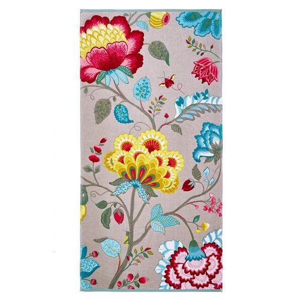 Pip Studio Floral Fantasy Pyyhe 100% Puuvilla 55x100 cm Khaki