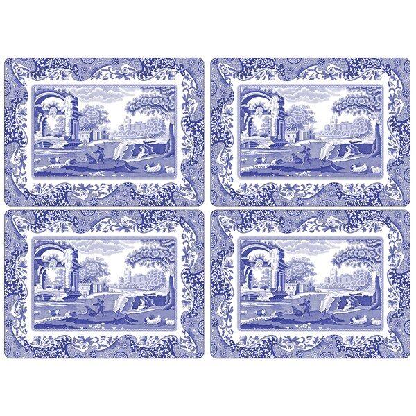 Spode Blue Italian Pöytätabletti 4 kpl