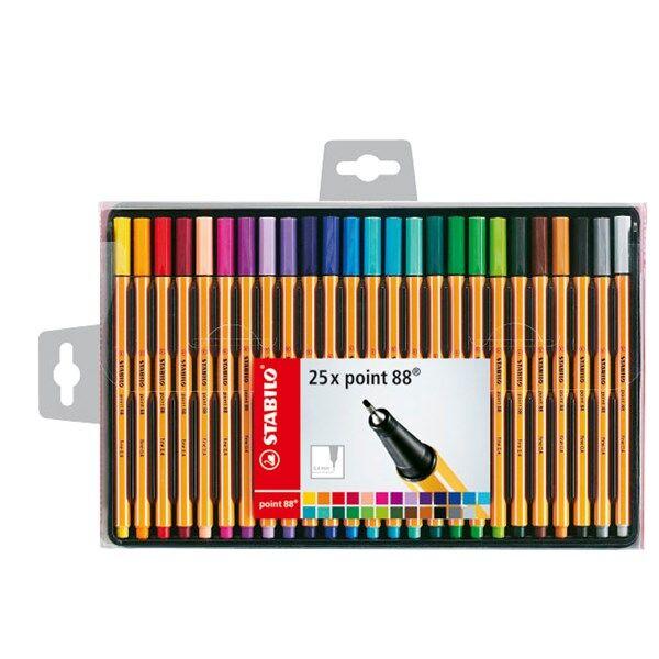 Fineliner Stabilo Point 88 Värikynät Multi 25 pakkaus