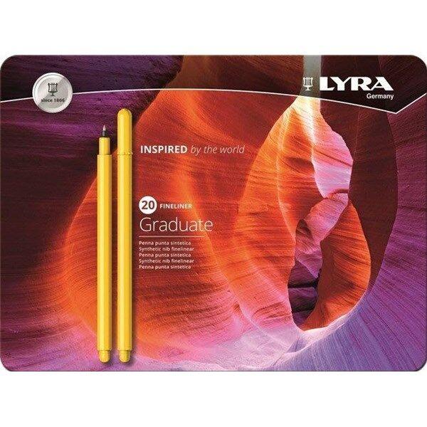 Lyra Graduate Fineliner 20-pakkaus
