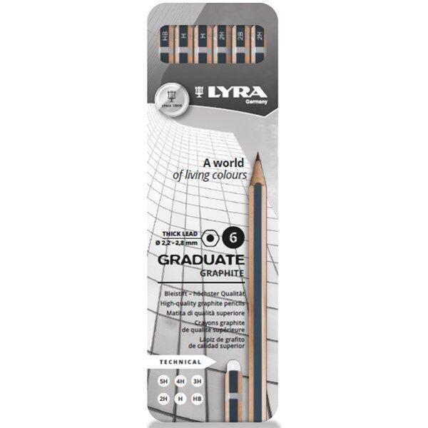 Lyra Graduate Graphite 6-pakkausartisti