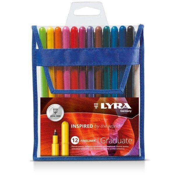 Lyra Graduate Fineliner 12-pakkaus