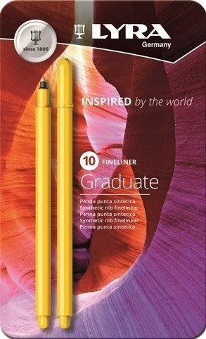 Lyra Graduate Fineliner 10-pakkaus