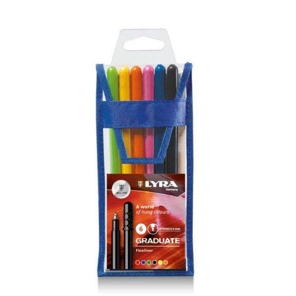 Lyra Graduate Fineliner 6-pakkaus