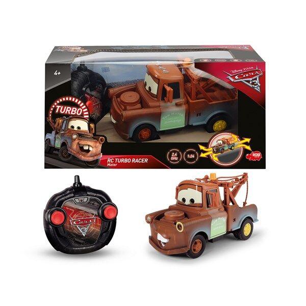 Hinausauto, Radio-ohjattava auto RC Turbo Racer, 1:24, Disney Cars 3