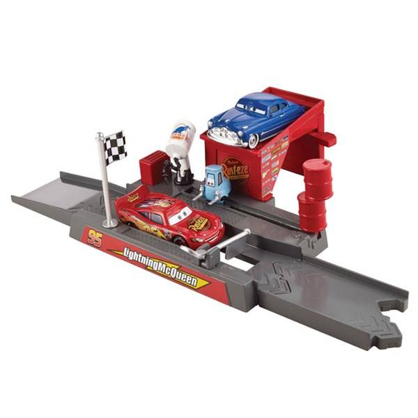 Playset, Piston Cup Pit Stop Play and Race Launcher, Disney Cars