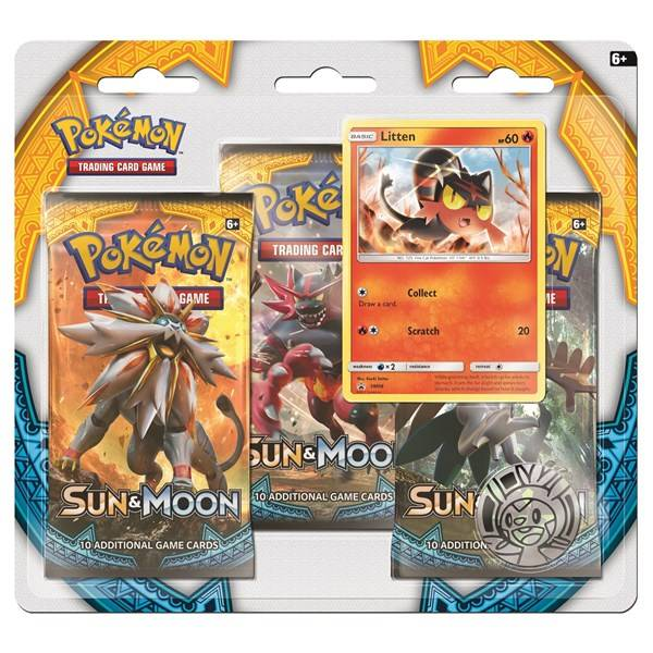 Pokémon Poké Blister 3 kpl Sun & Moon 1 Litten