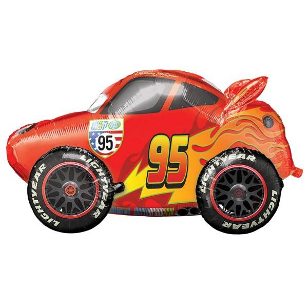 Air Walker, Ballong, Lightning McQueen, 68 cm, Disney Cars 3