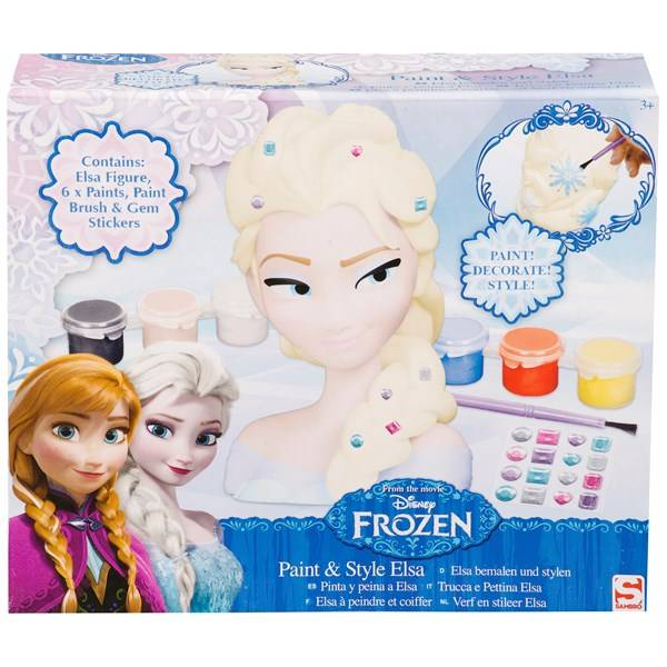 Disney Frozen Paint & Style Head Elsa