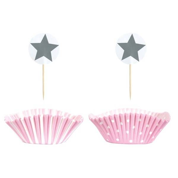 Jabadabado PARTY Cupcake Setti Vaaleanpunainen