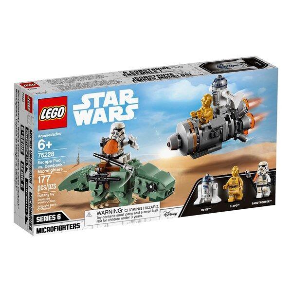 Lego Escape Pod vs. Dewback Microfighters, LEGO Star Wars (75228)