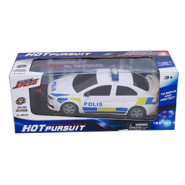 Radio-ohjattava Poliisiauto 22 cm Valkoinen/Sininen