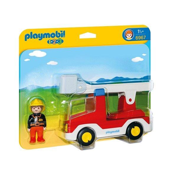 Playmobil 1.2.3 Brandbil med stege, Playmobil