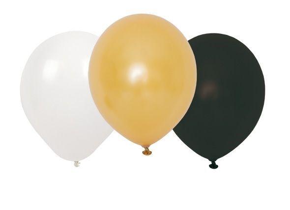 Ballonger svart/vit/guld, Jabadabado