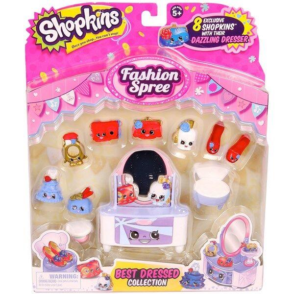 Best Dressed vaate-leikkipakkaus, Fashion Spree, Shopkins