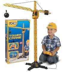 JCB Tower Crane, Radiostyrd Lyftkran, 100 cm