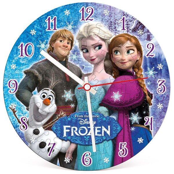 Disney Frozen klock pussel, 96 bitar