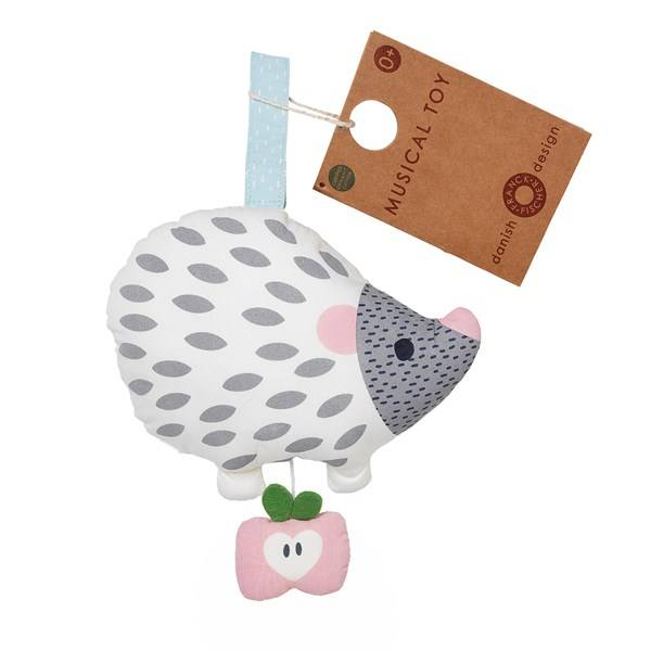 Else white hedgehog musical toy, Franck & Fischer