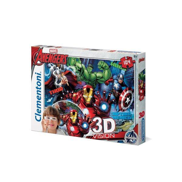 3D-Pussel Avengers,104 bitar, Clementoni