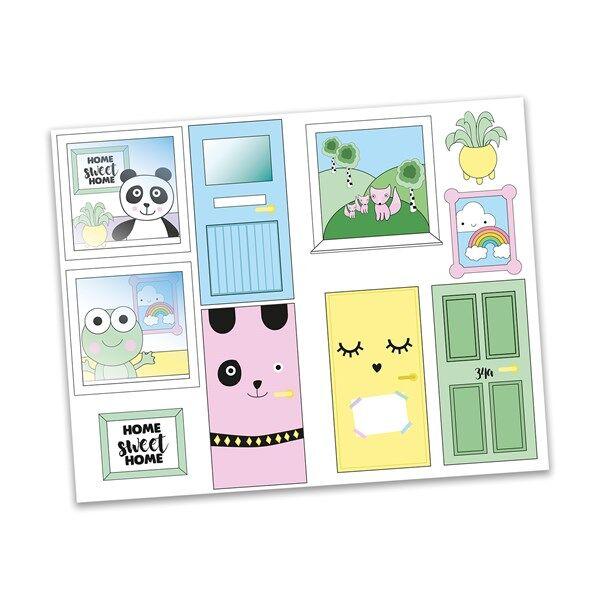 Creative Sticker set, Creative Dörrar, Lundby