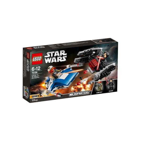 Lego A-Wing™ vs. TIE Silencer™ Microfighters, LEGO Star Wars (75196)