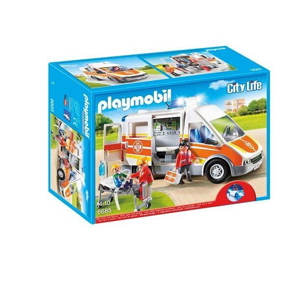 Playmobil Ambulanssi valo- ja äänitehosteilla, Playmobil (6685)