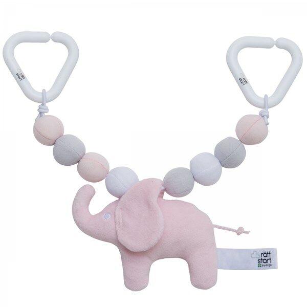 Vagnsleksak Elefant, rosa, Rätt Start