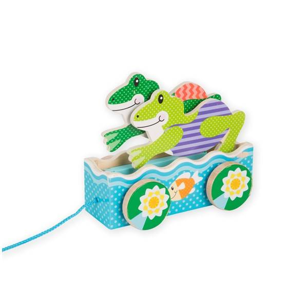 First Play Friendly Frogs Pull Toy, Melissa & Doug