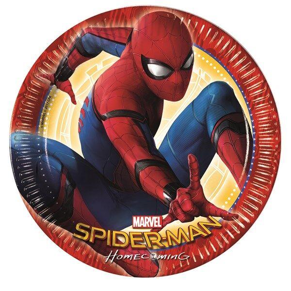 Spiderman Homecoming Paperilautaset 8 kpl