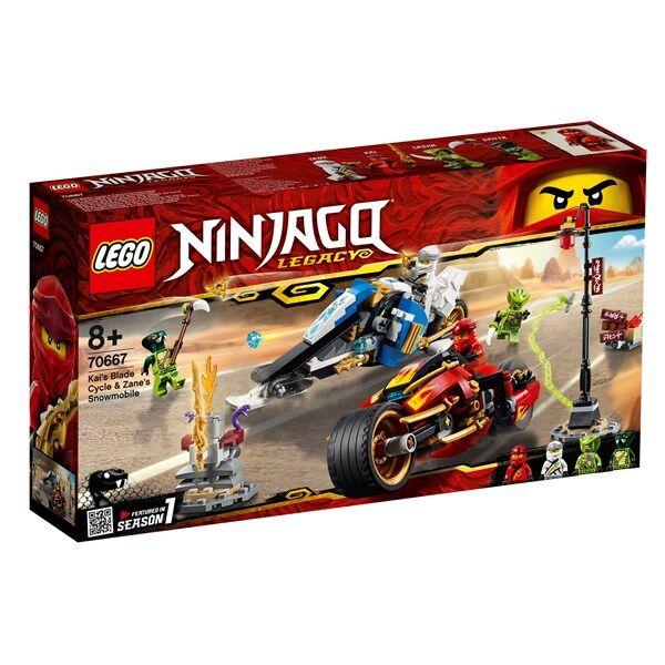 Lego Kais vassa motorcykel & Zanes snöskoter, LEGO NINJAGO (70667)