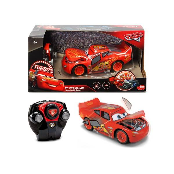 Blixten McQueen, Radiostyrd Bil RC Crazy Crash, Disney Cars 3