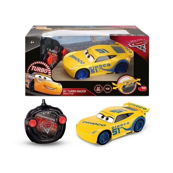 Disney Cars 3 Radio-ohjattava Auto RC Turbo Racer 1:24 Cruz