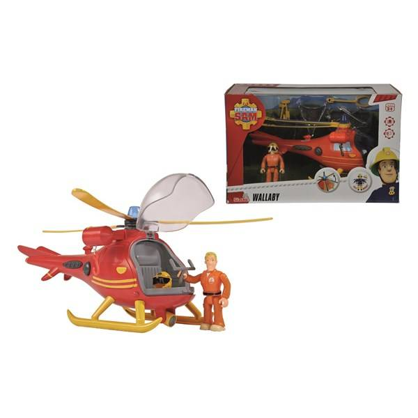 Helikopter Med Figur, Wallaby, Brandman Sam