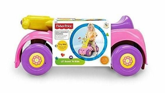 Push´n scoot, Ride-On, Sparkbil Rosa, Fisher-Price