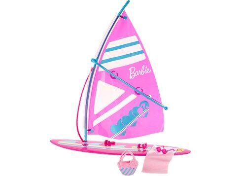 Barbie Purjelauta varusteineen, Barbie