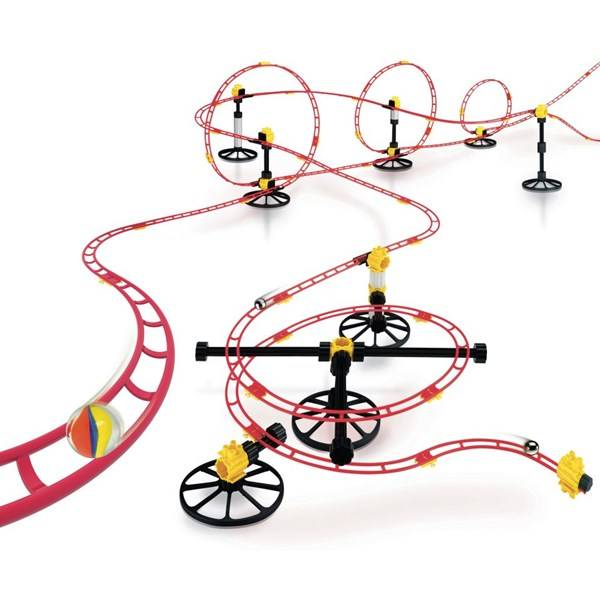 Quercetti Skyrail Roller Coaster Maxi Rail Kuularata