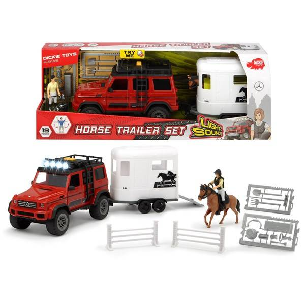Horse trailer set, Dickie Toys