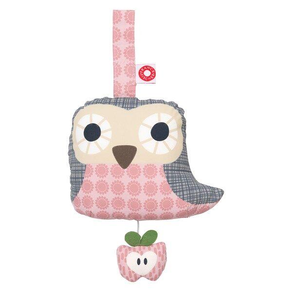 Else pink owl musical toy, Franck & Fischer