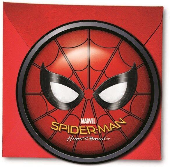 Spiderman Homecoming Kutsukortit 6 kpl