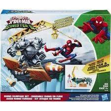 Marvel Web City Rhino Rampage Setti Spiderman