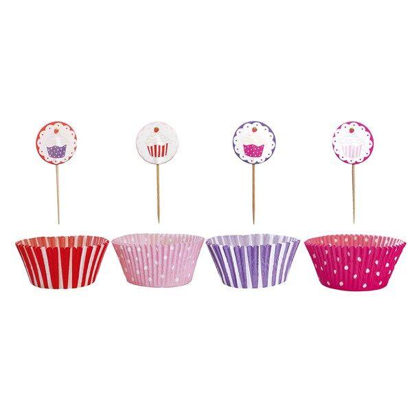 PARTY-kuppikakkusetti, vaaleanpunainen, Jabadabado