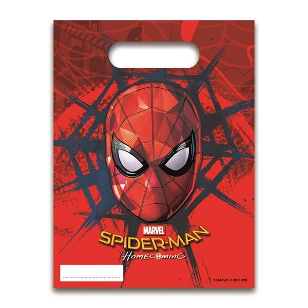 Spiderman Homecoming Karkkipussit 6 kpl