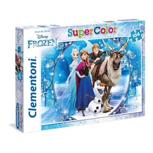 Pussel SuperColor Frozen, 104 bitar, Clementoni