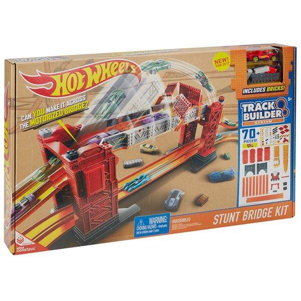 Track Builder Stunt Bridge Kit, Hot Wheels