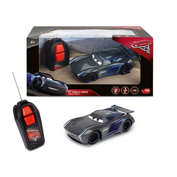 Disney Cars 3 Jackson Storn Radio-ohjattava Auto RC Single Drive 1:32