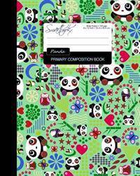 Primary Composition Book: Kids School Exercise Book with Pandas, Butterflies & Owls [ Times Tables * Wide Ruled * Large Notebook * Color * Perfe